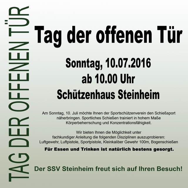 Tag der offenen Tuer 2016 SSV Steinheim